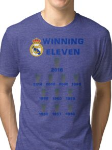 Real Madrid Winning 11 Champions League (A) Tri-blend T-Shirt
