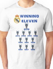 Real Madrid Winning 11 Champions League (A) Unisex T-Shirt
