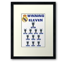 Real Madrid Winning 11 Champions League (A) Framed Print