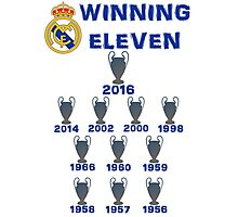 Real Madrid Winning 11 Champions League (A) Photographic Print