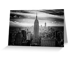 Empire State Building New York Manhattan Skyline Greeting Card