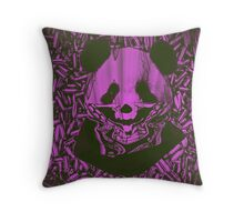Purple Gangsta Panda Throw Pillow