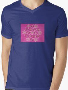 7 flowers in pink Mens V-Neck T-Shirt