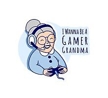 Gamer Grandma Photographic Print