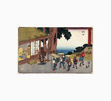 Minakuchi - Hiroshige Ando - 1838 - woodcut Unisex T-Shirt