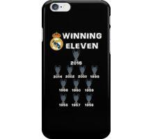 Real Madrid Winning 11 Champions League (B) iPhone Case/Skin