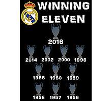 Real Madrid Winning 11 Champions League (B) Photographic Print