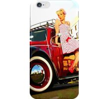 Beetle Pin up Girl iPhone Case/Skin