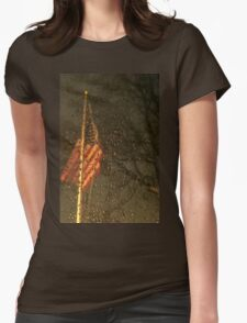 Freezing Flag Womens Fitted T-Shirt