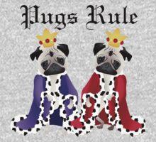 Pugs Rule Royal Pugs One Piece - Long Sleeve