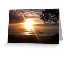 Sunrise on beach Greeting Card
