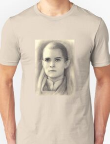 Legolas The Lord of the Rings Pencil Drawing T-Shirt