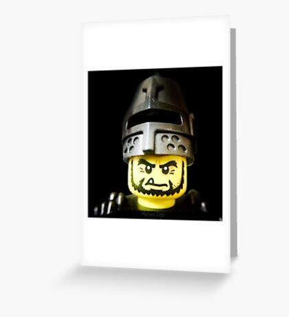 The Frightening Knight is here Greeting Card