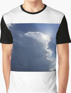 Sun behind clouds Graphic T-Shirt