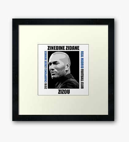Zinedine Zidane - Vector Poster Framed Print