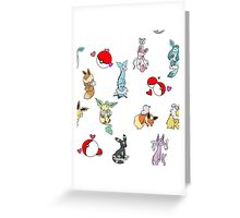 Eeveelutions - Pokemon Greeting Card