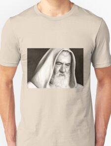 Gandalf The Lord of the Rings Pencil Drawing T-Shirt