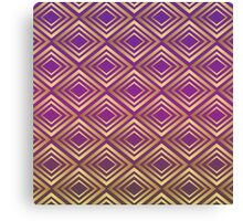 Purple Golden Squares Pattern Canvas Print