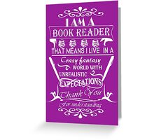 BOOK READER'S WORLD Greeting Card