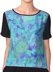 Bubble Blue Cell Art Women's Chiffon Top