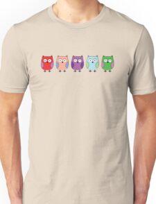 5 little Owls Unisex T-Shirt