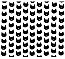 Cute Cat Pattern Photographic Print