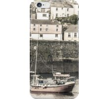 Fishing Boat in Harbour - Cornwall iPhone Case/Skin