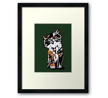 Graphic kitten Framed Print