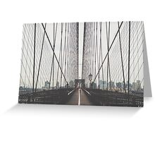 Brooklyn Bridge New York USA Greeting Card