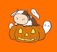Spooky Halloween Cow by SaradaBoru