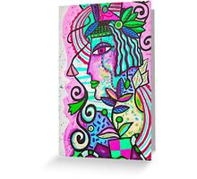 Pink Art Lady Greeting Card