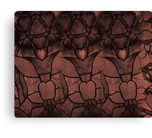 Stain Glass Brown Art Canvas Print