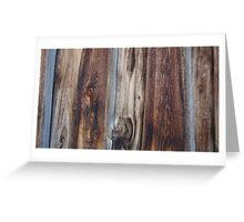 Weathered Old Wood Wall Texture Greeting Card