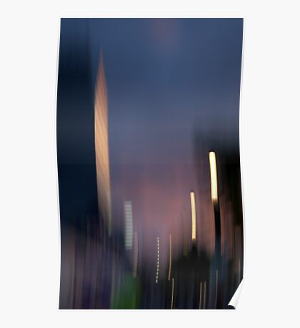 West End At Dusk Poster