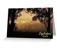 Daylesford mist Greeting Card