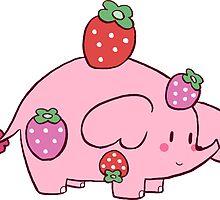 Strawberry Elephant by SaradaBoru