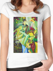 Escape To Fantasy, 120-80cm, 2016, oil on canvas Women's Fitted Scoop T-Shirt