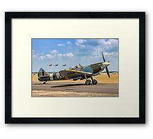 The Grace Spitfire taxies out Framed Print