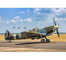The Grace Spitfire taxies out Photographic Print