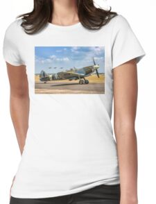 The Grace Spitfire taxies out Womens Fitted T-Shirt