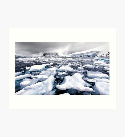 Icy Channel Art Print