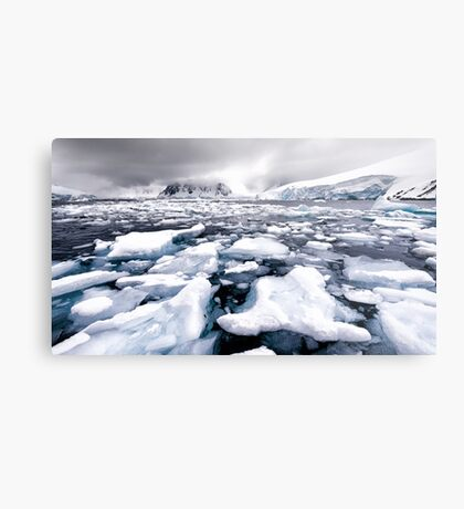 Icy Channel Metal Print