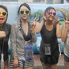 Four Korean Girls at Mudfest by Christian Eccleston