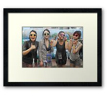 Four Korean Girls at Mudfest Framed Print