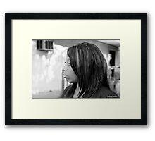 Broken Hearted City Girl Framed Print