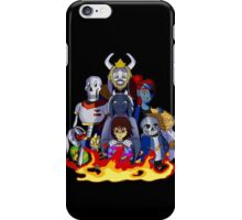 sans and family Undertale fire iPhone Case/Skin