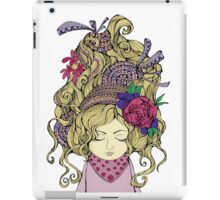Blondy girl with beautiful flower iPad Case/Skin