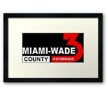 miami wade county Framed Print