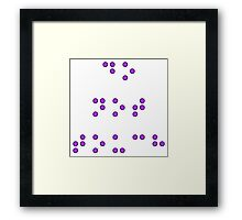 Do Not Touch in Braille in Purple Framed Print