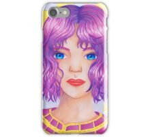 Violetta [Copic and Colored Pencil Semirealistic Portrait] iPhone Case/Skin
